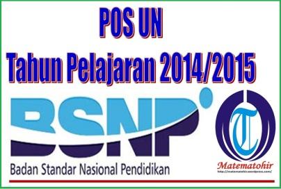 Pos UN Tahun Pelajaran 2014-2015